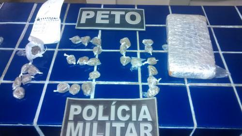 Polícia desativa quartel de drogas no Bairro Malhada Branca
