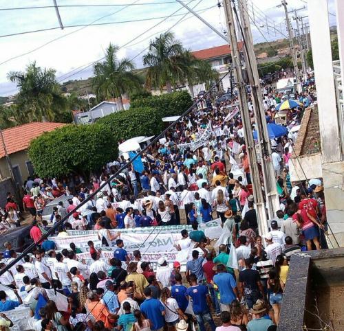 População de Paramirim e mais quatro cidades protestaram contra projeto de Adutora