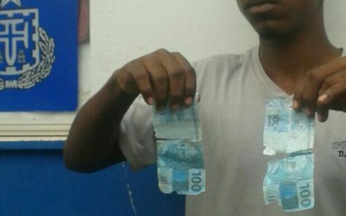 Polícia de Barra da Estiva apreende menor com notas falsificadas de R$ 100,00