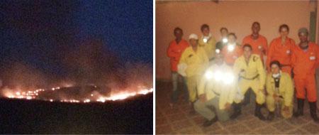 Incêndio na Serra do Rio da Água Preta em Ituaçu é controlado e prefeito agradece as Brigadas pelo empenho