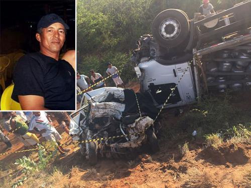 Colisão entre carro de passeio e Caminhão deixa uma vítima fatal em Ituaçu