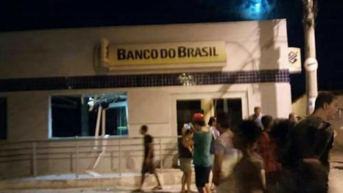 Bandidos explodem Banco do Brasil em Jussiape, Chapada Diamantina
