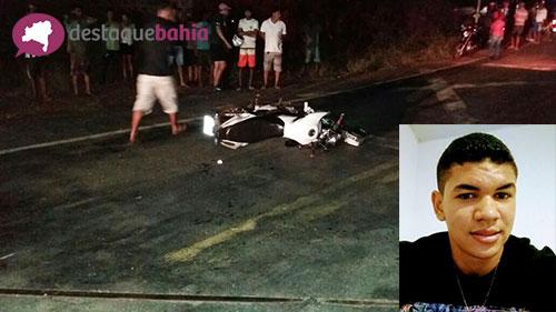 Jovem guajeruense de 18 anos morre após colidir moto contra trem em Malhada de Pedras
