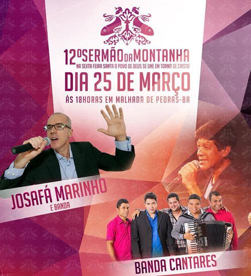 Será sexta - feira (25) a 12ª edição do Sermão da Montanha em Malhada de Pedras