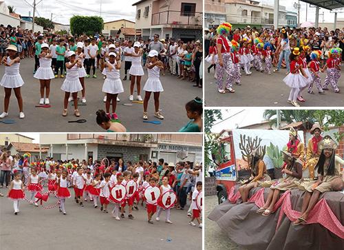 Desfile cívico de 7 de Setembro reúne instituições de ensino em Malhada de Pedras
