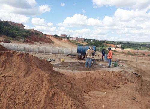 Parque Municipal está sendo construído em Maetinga