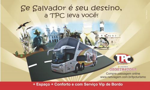 Inovando: TPC Turismo inaugurará nova linha com destino a Salvador