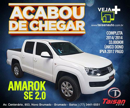 Acabou de chegar na Taisan Auto: Amarok SE 2.0 2014/2014 completa