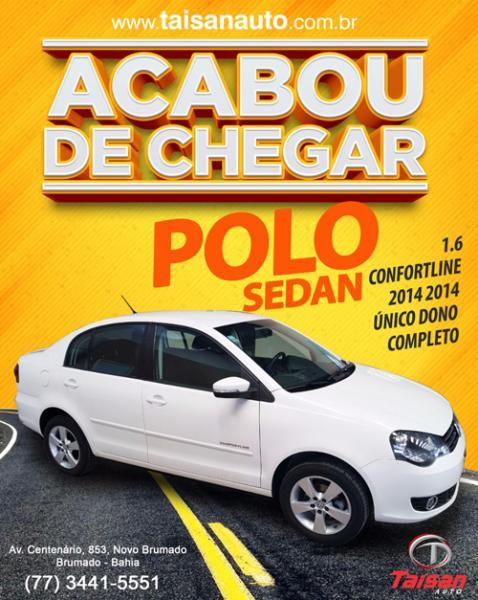 Acabou de chegar na Taisan Auto, Polo Sedan 1.6 confortline