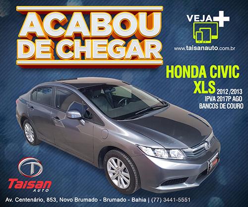 Acabou de chegar na Taisan Auto; Honda Civic XLS 2012/2013