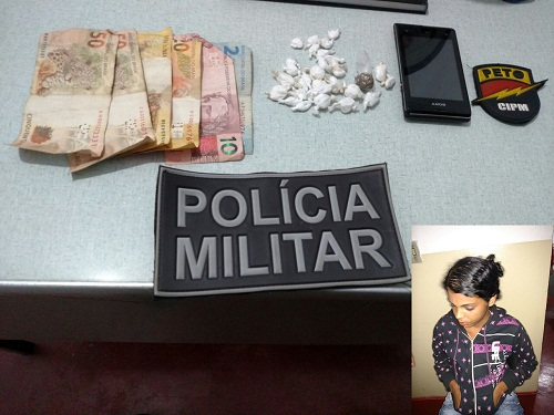 Jovem é presa comercializando drogas no São Pedro de Aracatu