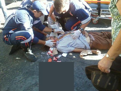 Idoso morre ao ser atropelado por motocicleta na Avenida Santos Dumont