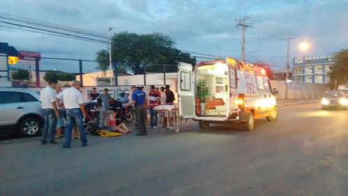 Acidente com omissão de socorro na Avenida Centenário em Brumado
