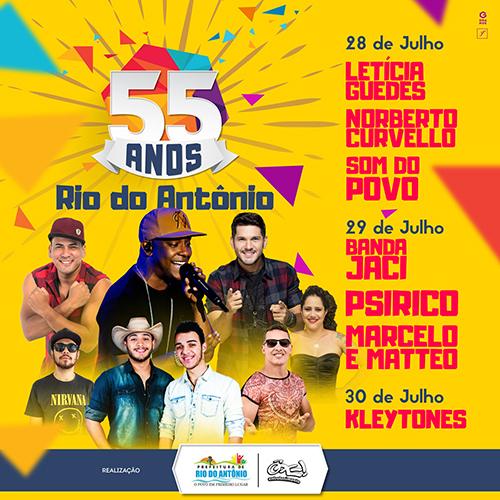 55 anos de emancipação política de Rio do Antônio terá três de shows; Psirico é uma das atrações