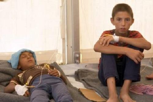 Intoxicação alimentar afeta 800 refugiados em abrigo no Iraque