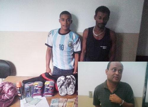 Conquistenses são presos por futos e roubo em Aracatu