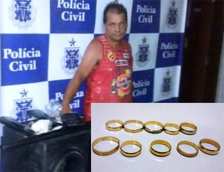 Jóias roubadas em Brumado foi recuperada após intenso trabalho de investigação da policia