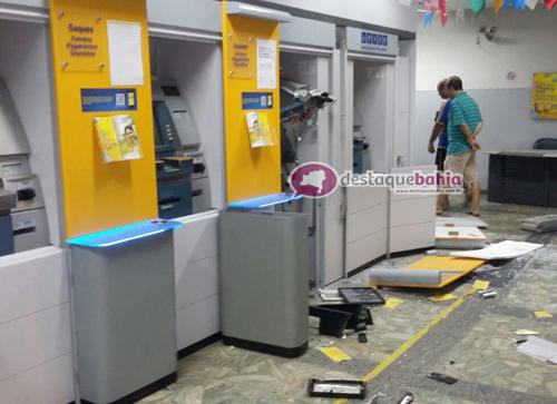 Agências do Banco do Brasil e Bradesco foram explodidas em Valente