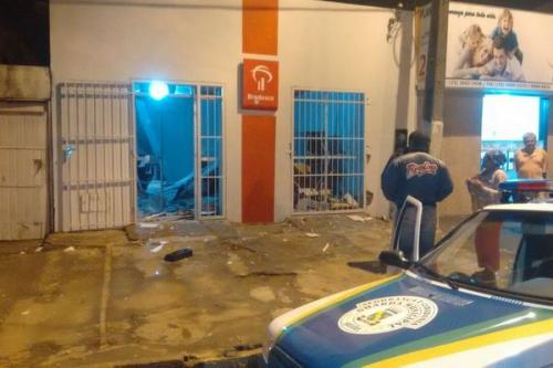Caixa Eletrônico do Bradesco em Brejões foi explodido durante a madrugada