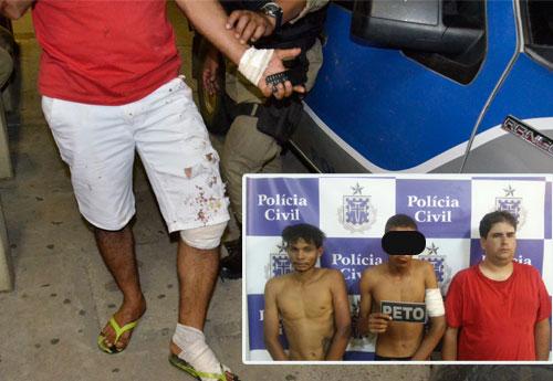 Um Policial ficou ferido e três bandidos foram presos em ação cinematográfica em M. de Pedras
