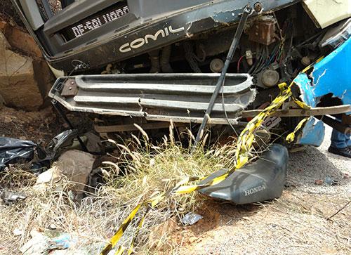 Colisão entre moto e ônibus da Novo Horizonte deixa uma vítima fatal em Rio de Contas