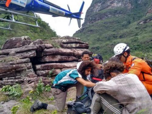 Após 5 dias de trilha na BA, turista passa mal e é resgatado na Chapada