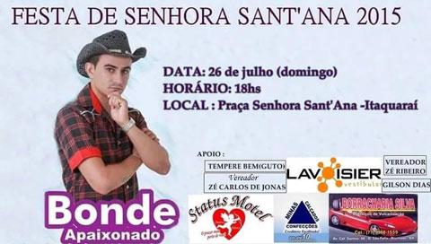 Neste domingo tem Bonde Apaixonado em Itaquaraí
