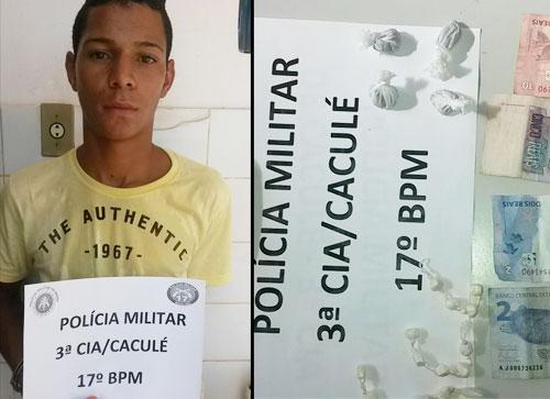 Operação Caculé sem drogas tira mais um traficante de circulação