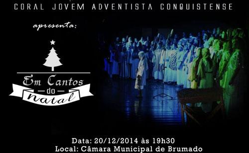 Igreja Adventista realizará Cantata de Natal na Câmara de Vereadores de Brumado