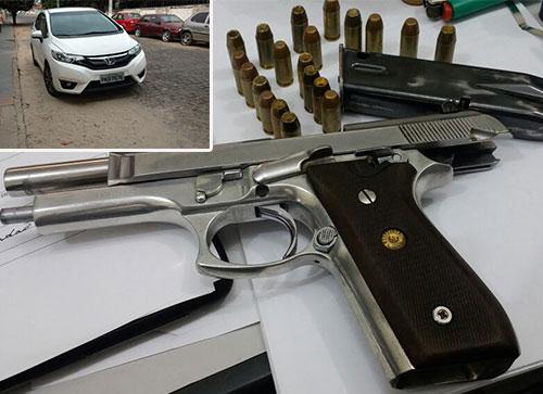 Dois homens são detidos pela PRE de Tanhaçu em posse de pistola e munições