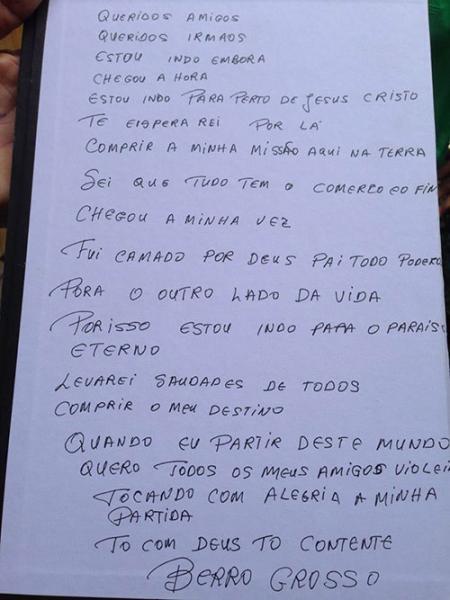 Brumado se despediu de Antônio Elias o 'Berro Grosso'