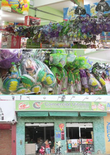 Promoção de Ovos de Páscoa neste domingo no Comercial Vitória