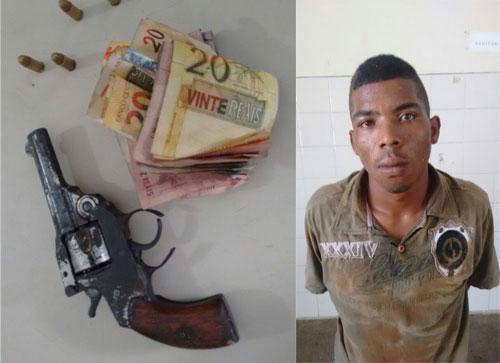 Bandido coloca arma na boca de funcionária e rouba mercadinho na Santa Tereza
