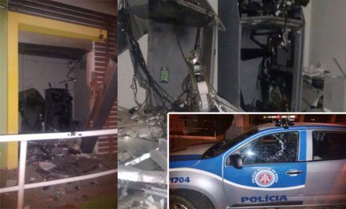 Bandidos explodem agência bancária e atiram contra viatura em Palmas de Monte Alto