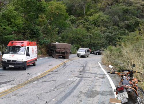 Mais um acidente é registrado na Serra das Almas, trecho entre Rio de Contas e Livramento