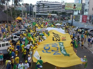 Atos anti-Dilma reúnem 700 mil em 24 estados e no DF, segundo a polícia
