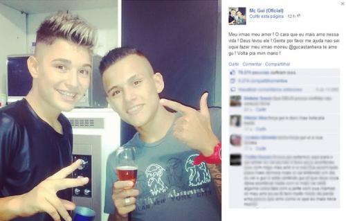 Irmão de MC Gui morreu de overdose de cocaína, diz laudo da perícia