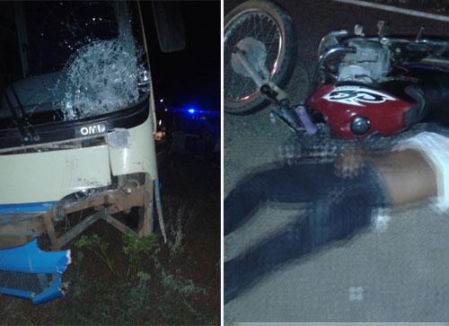 Acidente envolvendo ônibus da Novo Horizonte deixa uma vítima fatal em Dom Basílio