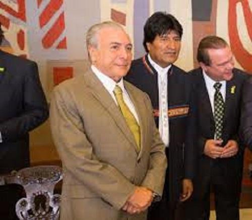 Temer se encontra com Evo Morales, aliado de Lula e Dilma