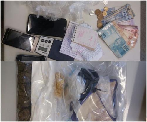 Polícia apreende drogas na Urbis IV em Brumado; três pessoas foram presas