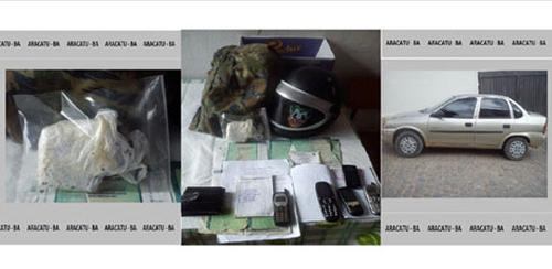 Policiais de Aracatu e Maetinga realizaram apreensão de Drogas no Alto Maron