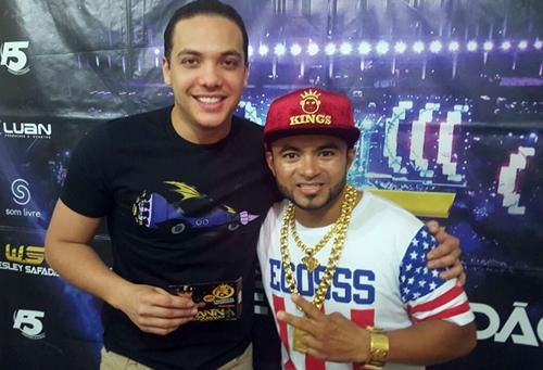 Fann Estourado se encontra com Wesley Safadão e recebe o reconhecimento do maior fenômeno da música brasileira da atualidade