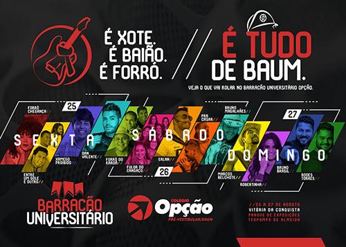 Confira programação do Barracão Universitário do Festival de Inverno Bahia