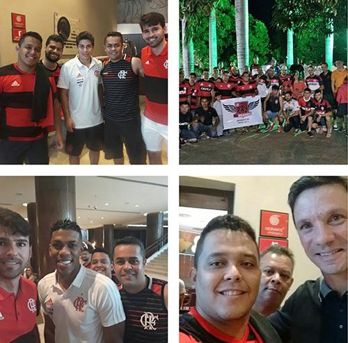 Torcida FlaBrumado assiste jogo do Flamengo em Salvador e tem momentos com seus ídolos