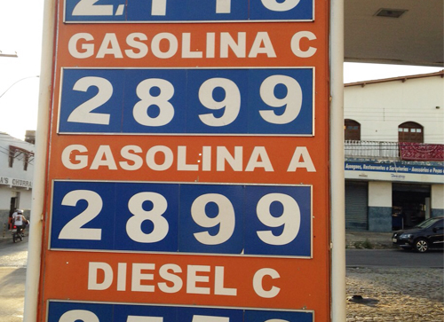 Gasolina em Conquista é encontrada a R$ 2,89 em Brumado já ultrapassa os R$ 3,40