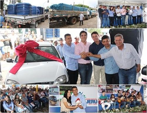 Guajeru: Prefeito entrega 42 casas na zona rural, carro e anuncia investimentos em sistemas de abastecimento de água