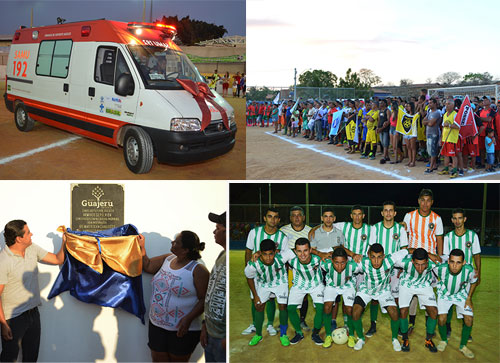 População guajeruense se alegra com novos investimentos feitos pelo município no esporte e na saúde