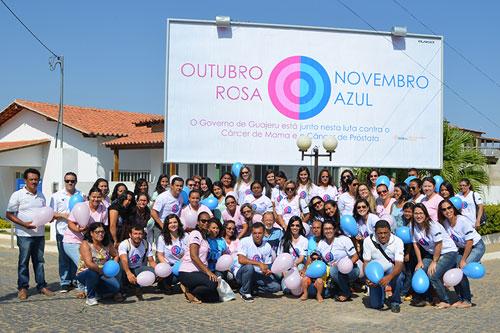 Mobilização marca o início da campanha Outubro Rosa/Novembro Azul em Guajeru