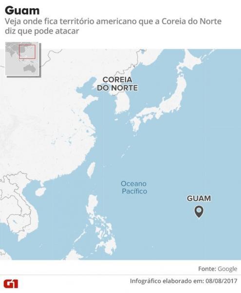 Coreia do Norte confirma plano para atacar Guam com mísseis
