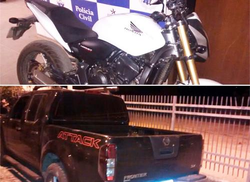 Policia Civil prende Traficante com droga, moto e Picape usada em Homicídios